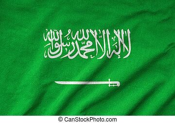 Ruffled Saudi Arabia Flag