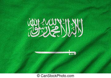 Ruffled Saudi Arabia Flag