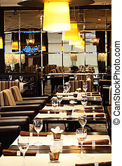 luxury restaurant in european style - new and clean luxury...