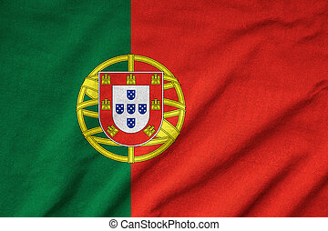 Ruffled Portugal Flag