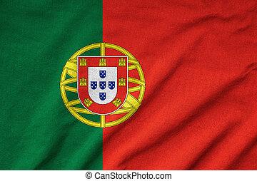 Ruffled Portugal Flag