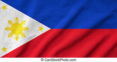 Ruffled Philippines Flag