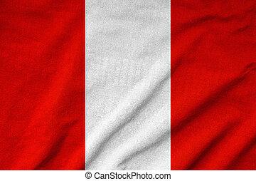 Ruffled Peru Flag