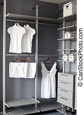 bright and clean european dressin room - luxury and very...