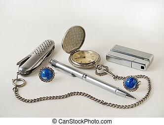 Men\'s Accessories 1 - A close-up of the men\'s accessories:...