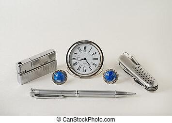 Men\'s Accessories 3 - A close-up of the men\'s accessories:...
