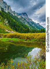 Cascade Creek - Grand Teton National Park - Dramatic Sky...