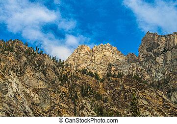 Cascade Canyon - Grand Teton National Park - Blue Sky over...