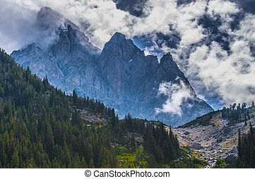 Cascade Canyon - Grand Teton National Park - Dramatic Sky...
