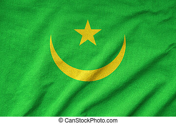 Ruffled Mauritania Flag