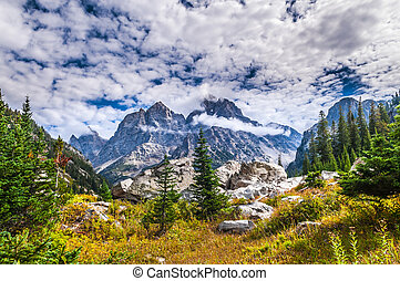Grant Tetons Lanscape - Spectacular View of the Grand Teton...