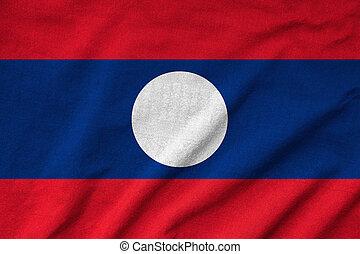 Ruffled Laos Flag