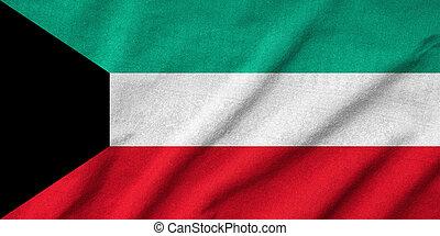 Ruffled Kuwait Flag