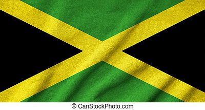 Ruffled Jamaica Flag