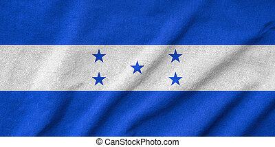 bandera,  honduras, Arrugar