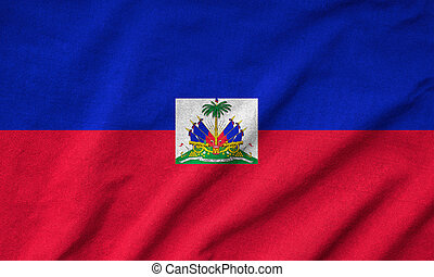 Ruffled Haiti Flag