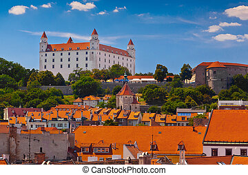 Old Castle in Bratislava on a Sunny Day View from the Town...