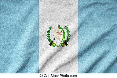 Arrugar, guatemala, bandera