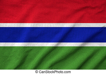 Ruffled Gambia Flag