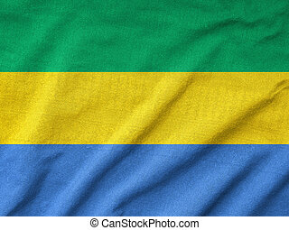 Ruffled Gabon Flag
