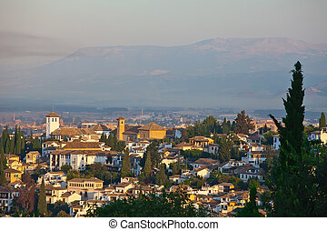 View of Granada from the top