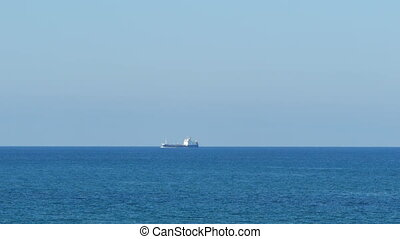 Tanker ship - Industrial ship in the Mediterranean