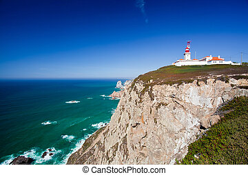 Cabo da Roca, West most point of Europe, Portugal - Cabo da...