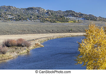 North Platte River in Colorado - North Platte River above...