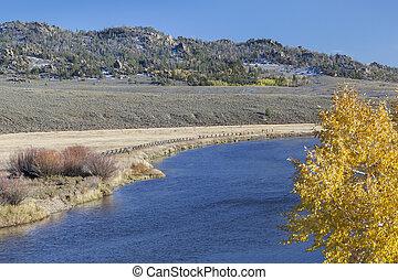 North Platte River in Colorado - North Platte River above...