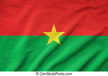 Ruffled Burkina Faso Flag