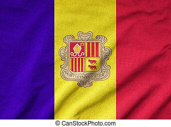 Ruffled Andorra Flag