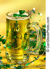 St Patricks Day green beer - Mug of green beer for St...