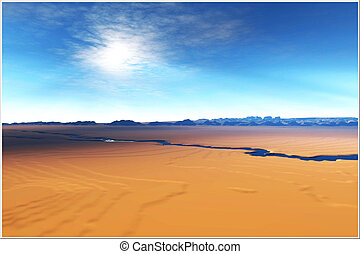 AVENUE OF TIME - A river flows through this desert...