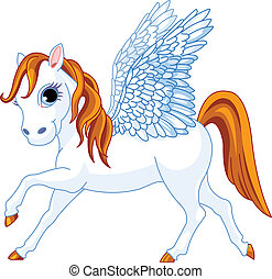 Pegasus - Cute winged horse of Greek mythology