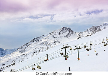Mountains ski resort Solden Austria - nature and sport...