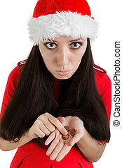 Natal, menina, não, Suficiente, Mone