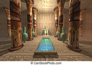 EGYPTIAN TEMPLE - A temple to worship the Egyptian god...