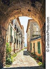 コーナー, イタリア, トスカーナ, 絵のよう