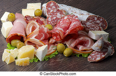 Delicatessen Cold Cuts - Arrangement of Delicatessen Cold...