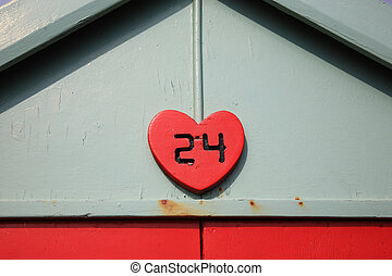 Beach hut number 24 at Hove in Brighton England