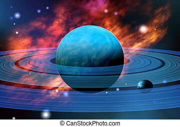 NEPTUNE - The beautiful blue planet of Neptune with its...
