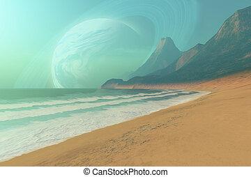 PERIGEE - Cosmic seascape on an alien planet.