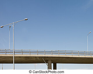 Highway Bridge - Highway bridge in front of blue sky