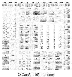 2014 Creative Calendar in multiple configurations for Print...