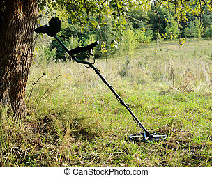 Mine detector in the forest