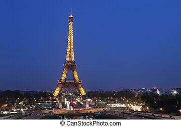 View of the Paris and Tower Eiffel