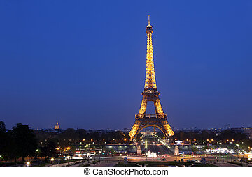 Paris and Tower Eiffel