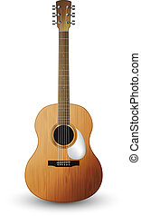 Acoustic guitar - Illustration of a acoustic guitar