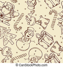 Christmas doodle pattern