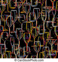 Cocktail party, seamless pattern design